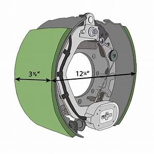 Dexter Nev-r-adjust 12 25 U0026quot  X 3 375 U0026quot  Electric Trailer Brake - Left Hand  Driver U0026 39 S Side