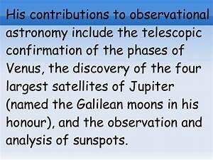 Galileo galilei, rocío