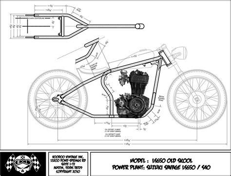 Suzuki Savage Chopper Blueprint