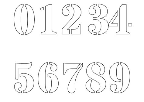 printable number stencils  painting