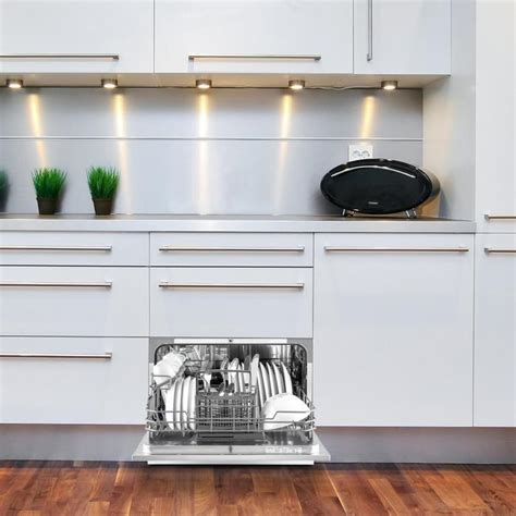 amazonia 6 table dishwasher a 1380w 6 place settings 49 db silver silver klarstein