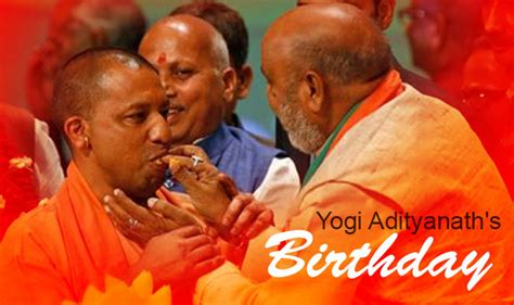 yogi adityanath turns  today wishes pour   uttar