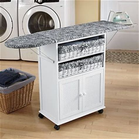 portable ironing board cabinet folding ironing board cabinet 2 basket cottage style