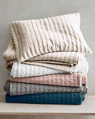 Organic Cotton Coverlet by Indigo Or Pink So Pretty Eileen Fisher Rippled Organic