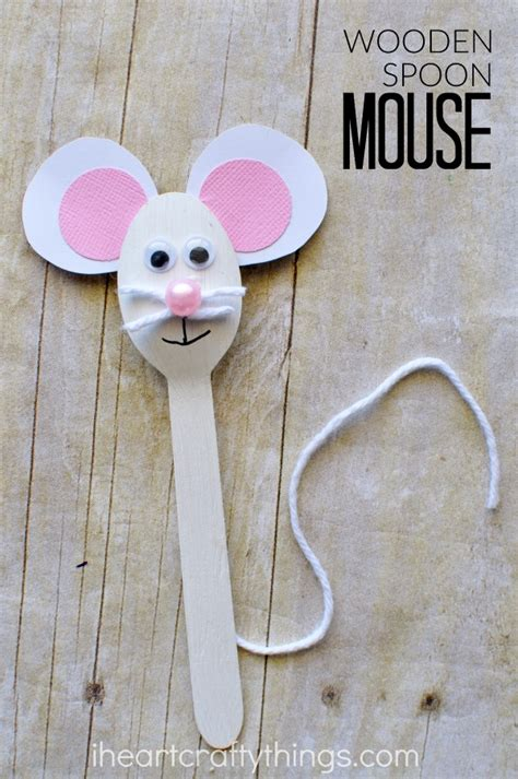 preschool mouse craft wooden spoon mouse craft for i crafty things 764