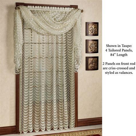Cascade Valance by Cascade Lace Panel Window Treatment