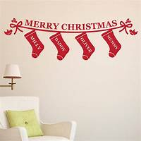 perfect christmas wall decals personalised christmas stockings wall sticker by megan ...