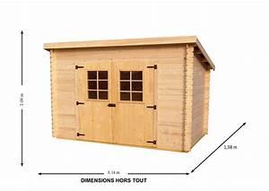 Abri jardin bois 5m2 pas cher Les cabanes de jardin