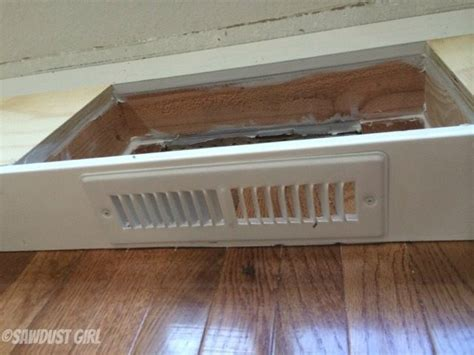 Kitchen Counter Vents by How To Install A Cabinet Base With A Floor Vent Sawdust