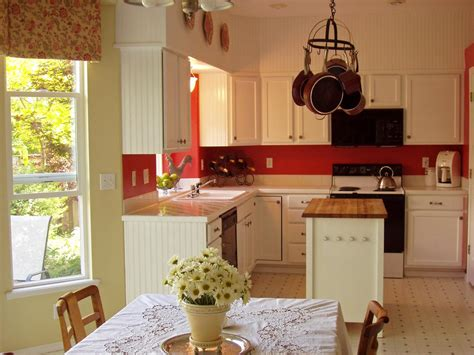 red kitchen walls with white cabinets 12 cozy cottage kitchens kitchen ideas design with