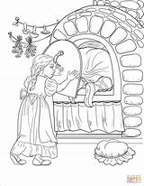 Coloring Oven Witch Gretel Stove Pages Door Into Hansel Herself Gets While Iron Shuts Gingerbread Printable Getcolorings Tastes Roof Bit sketch template