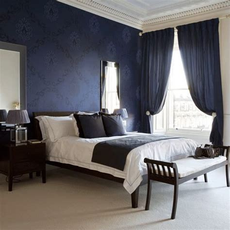 Best 25+ Dark Blue Bedrooms Ideas On Pinterest Blue