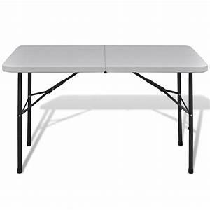 Table De Jardin Blanche : la boutique en ligne table de jardin pliable 122 cm blanche en hdpe ~ Teatrodelosmanantiales.com Idées de Décoration