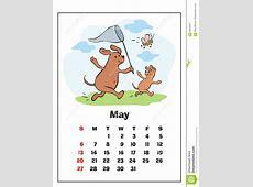 May 2018 calendar stock vector Illustration of friend