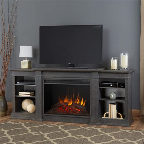 real flame eliot grand   electric fireplace tv stand