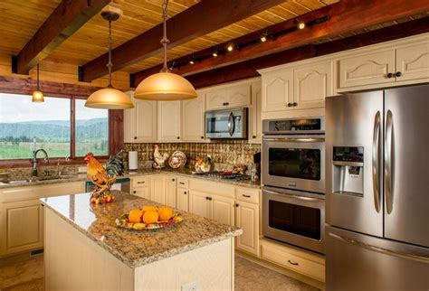 13 best images about Log Home Kitchens on Pinterest