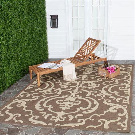safavieh courtyard indoor outdoor rug safavieh courtyard chocolate 8 ft x 11 ft indoor