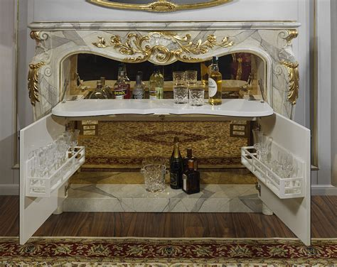 fireplace  bar style baroque vimercati classic furniture