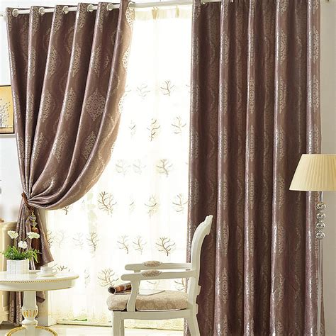 shabby chic window curtains coffee colored jacquard crafts shabby chic window curtains