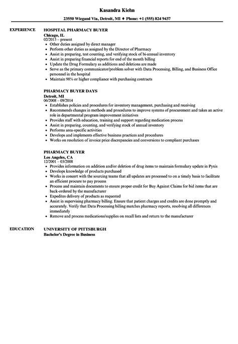 pharmacy buyer resume samples velvet jobs