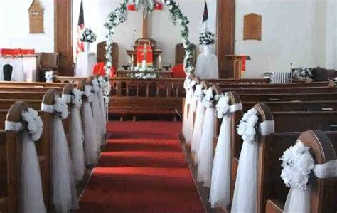 Church Pew Decorations Wedding Church Wedding