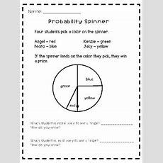 Probability Spinner Worksheet By Chungry For Learning Tpt