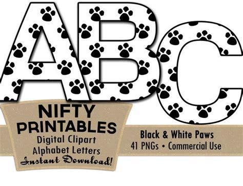 Paw Prints Alphabet Letters Set