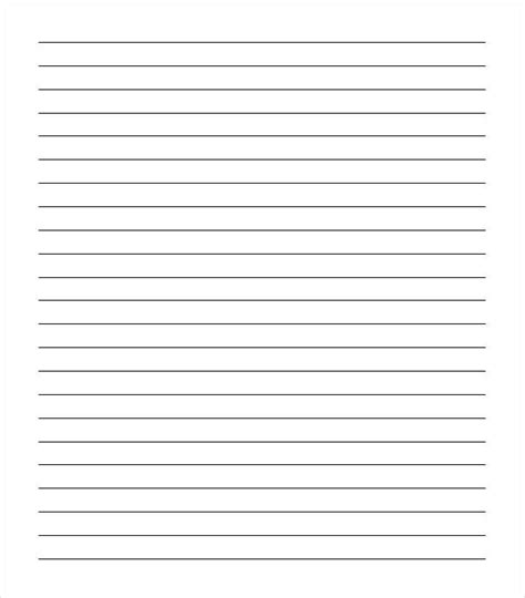 notebook paper template for word 6 notebook paper templates word templates