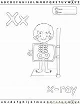 Coloring Xray Pages Printable Ray Letter Edu Alphabets Template Coloringpages101 Radiology Books Educational Education Xxray sketch template