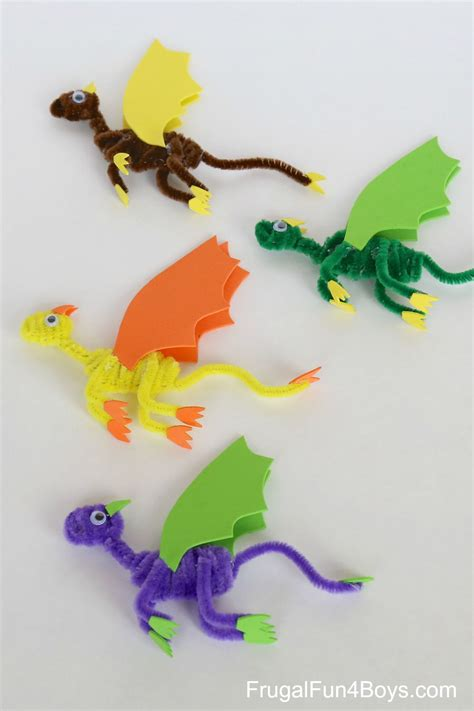 pipe cleaner dragons craft  kids pipe cleaners dragon crafts pipe cleaner crafts fun crafts