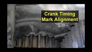 Timing Mark Crank Sprocket Location  Volvo 850  S70  V70