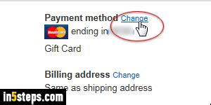 Some card issuers request proof of address such as a utility bill. Change credit card (default payment method) on Amazon