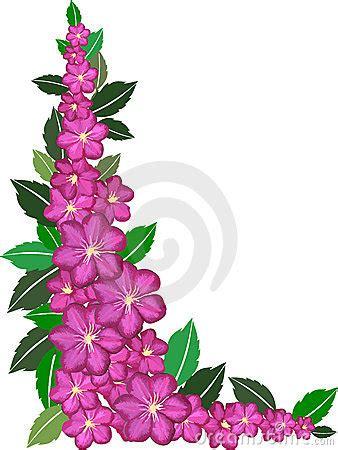 purple flower border royalty  stock  image