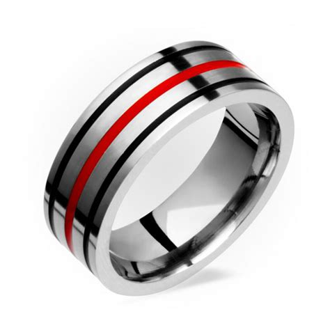 mens titanium ring with black inlay comfort fit wedding band free sz 4 to ebay