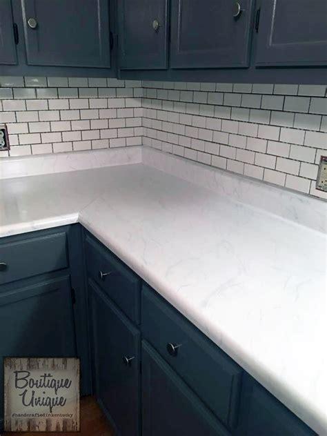 """Carrara Marble"" Countertop with GF Milk Paint   General"