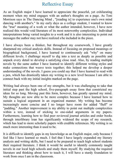essay  reflection  ideas  introduction  reflective write  writing