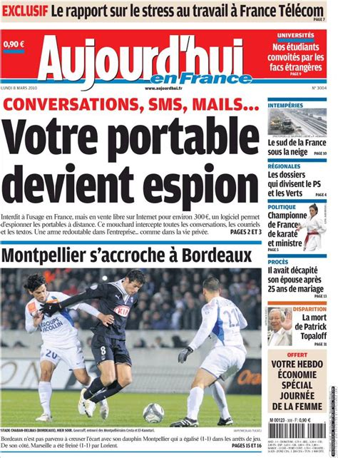 Aujourd Hui by Journal Aujourd Hui En Les Unes Des