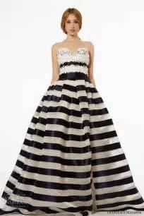 black and white striped wedding dress miranda fall 2015 wedding dresses wedding inspirasi