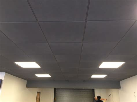 Gray Drop Ceiling Tiles by Suspended Ceiling Spraying Brighten Up Your Office