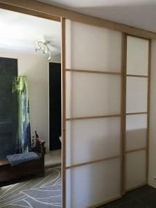 Panneau Separation Piece : panneau japonais separation de piece panneaux en pose mur ~ Zukunftsfamilie.com Idées de Décoration