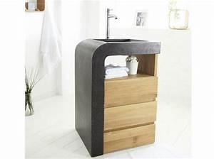 40 meubles pour une petite salle de bains elle decoration for Porte de douche coulissante avec meuble sous lavabo salle de bain la redoute