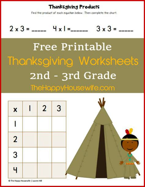 Thanksgiving Worksheets Free Printables  The Happy Housewife™  Home Schooling