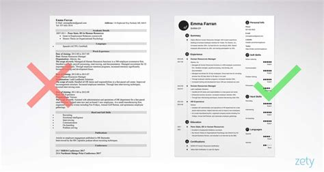 To Right A Resume right and wrong basic resume exles comparison