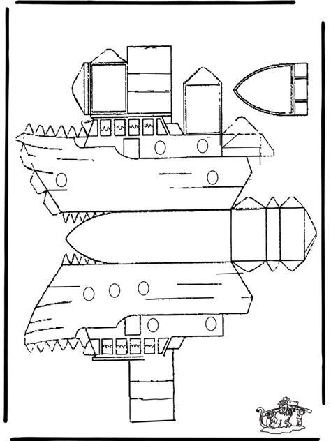 Drakenpoot Kleurplaat by Bouwplaat Boot Knutselen Bouwplaten