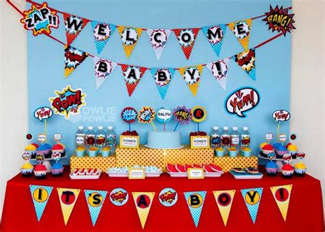 Kara's Party Ideas Superboy Supergirl Superhero Baby