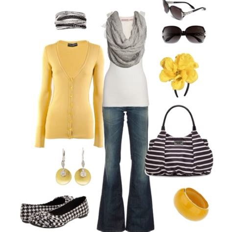 Yellow and gray outfit | My Style | Pinterest
