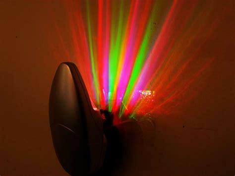 2 X Colorful Rainbow Ray Wall Plug Led Night Light Energy