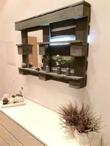bathroom mirrors with storage ideas pallet bathroom mirror shelf diy 101 pallets