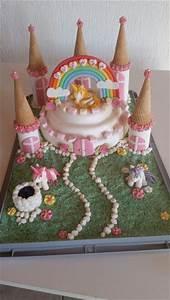 Prinzessinnen Schlo Mit Einhorn Torte Princess Cake