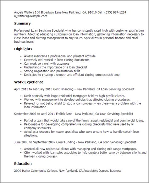 Workplace Health And Safety Officer Resume by Loan Servicing Specialist Resume Template Best Design
